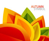 Autumn leaves background vector-8