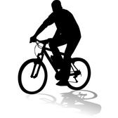 CYCLIST VECTOR SILHOUETTE.eps