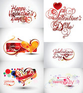 Valentine's Day Theme Clip Art Word Valentine's Day Heart-shaped Happy Valentins Day Love