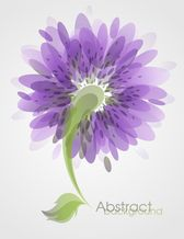 Abstract Flower Background Vector Art