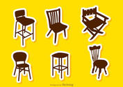Silhouette Restaurant Chair Vectors
