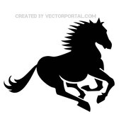 HORSE GALLOP VECTOR SILHOUETTE.eps
