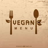 Vegan lifestyle vector template