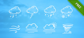 PSD gratuit Weather Icon Set