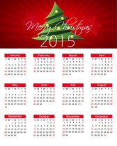 Christmas Calendar for 2015 Year