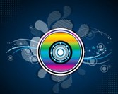 Colorful Compact Disc