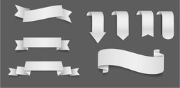 Grey 3D Creative Ribbon Pack