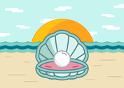 Pearl Shell On The Beach