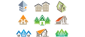 9 House Building Vector Logotypes