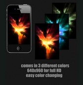 Fiery Explosion iPhone 4 Wallpaper Set PSD