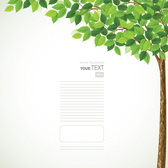 Green Spring Tree Background with Leaves (Free)