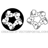 CLASPED HANDS VECTOR GRAPHICS.eps