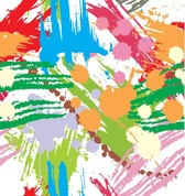 Colourful Paint Blots Seamless Background