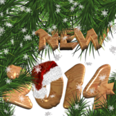 New Year 2014 Wood Decoration With Transparent Background PSD