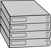 Stacked Servers Without Rack