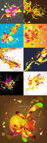 Colorful Background Of The Trend Pattern Vector Graphic - O
