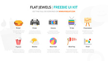 10 Snazzy Flat Web Icons Set PSD