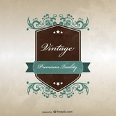 Vintage badge template design