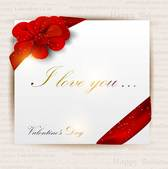 Exquisite Valentine's Day greeting card vector-5