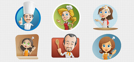 Chef Vector Character Set 2