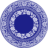 Vector Blue And White Porcelain Vector Blue White