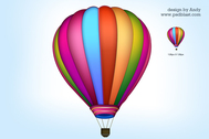 Air Ballon-Symbol PSD