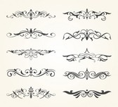 Decorative elements vector set