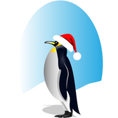 Happy Santa Penguin