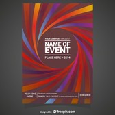 Editable vector poster free abstract design