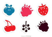 Simple Berry Fruits Icons