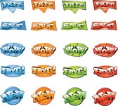 Set Of Colorful Vector Sale