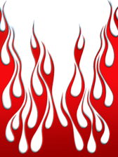 red flames vector PSD