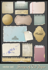 Free Download vectors of scrap paper