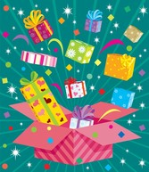 Vector Colorful Holiday Gift