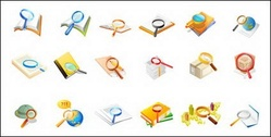 Office supplies magnifying glass Vector 2