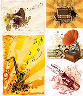 Gramophone, Formerly Saxophone, Trumpet And Other Music Vect
