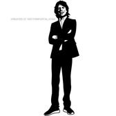 MUSICIAN MICK JAGGER VECTOR IMAGE.eps