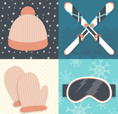 4 winter ski equipment