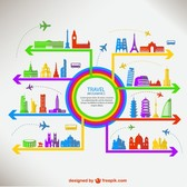 Travel vector free infographic