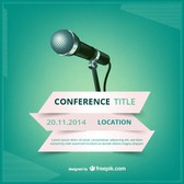 Conference vector poster