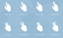 Touch Gesture PSD Icons