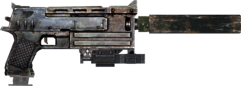 Fallout 10mm Pistol with Laser Sight, extended mag, and Silencer PSD