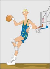 Basketball sport vector 3