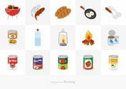 Free Camp Food Vector Icon Set