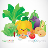 Vector Kawaii Vegetables
