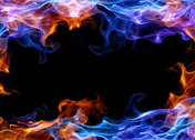 Red And Blue Fire Background PSD