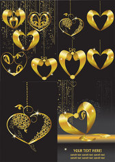 Gold Heart-shaped Pendant Vector Gold Prime Caring