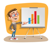 Vector Illustration of a Presentation Guy