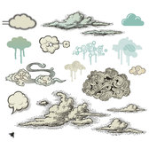 WOLKEN VECTOR illustratie PACK.eps