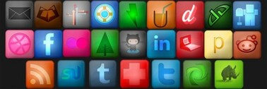 25 Luxury Tone Social Media Icons Set